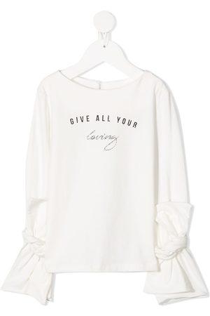 Lapin House Girls Blouses - Logo print blouse