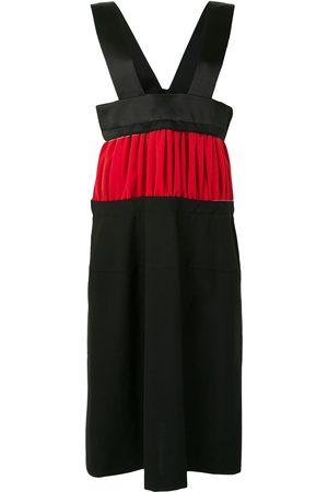 Comme des Garçons Panelled colour-block midi dress