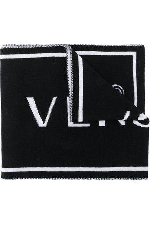 VERSACE Intarsia knit scarf