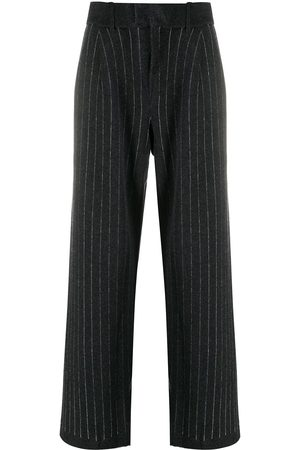 Barrie Pinstripe cashmere tailored trousers - Grey