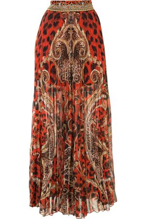 Camilla Long animal print skirt