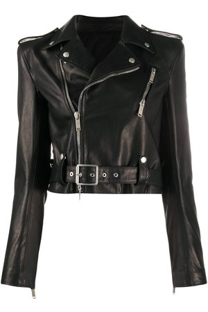 Unravel Project Belt-detail biker jacket