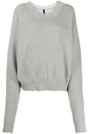Unravel Project Slouchy knitted jumper - Grey
