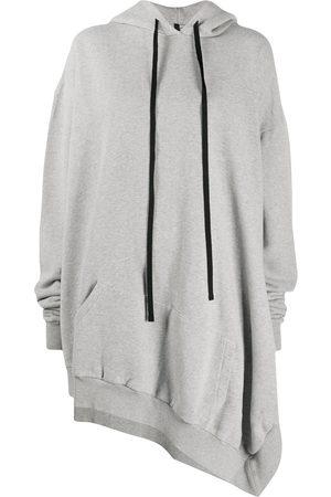 Unravel Project Women Hoodies - Asymmetric hoodie - Grey