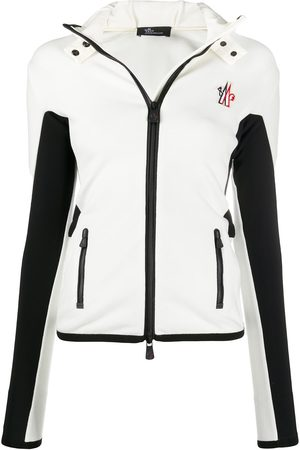 Moncler Women Ski Suits - Colour-block slim-fit jacket