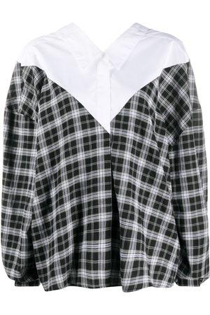 Unravel Project Women Shirts - Oversized v-neck check shirt