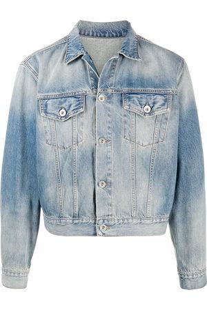Unravel Project Men Denim Jackets - Cropped denim jacket