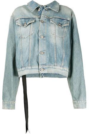 Unravel Project Women Denim Jackets - Stone-wash backwards denim jacket