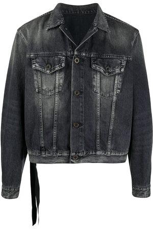 Unravel Project Men Denim Jackets - Stonewashed denim jacket