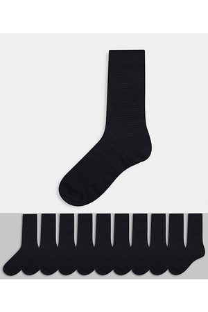 Selected 10 pack ankle socks in