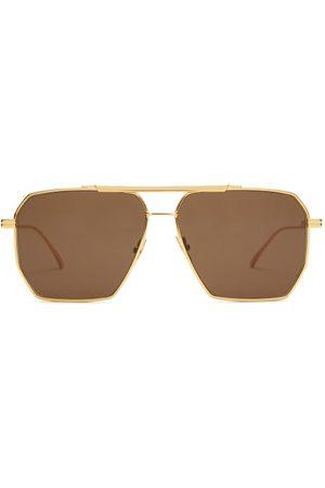 Bottega Veneta Women Aviators - Aviator Metal Sunglasses - Womens