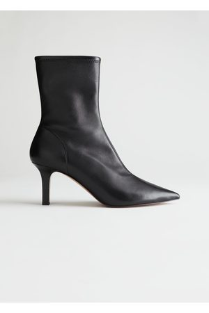 & OTHER STORIES Pointed Suede Sock Boots