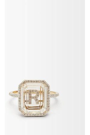 Mateo Initials Diamond, Quartz & 14kt Gold Ring R-z - Womens - Crystal