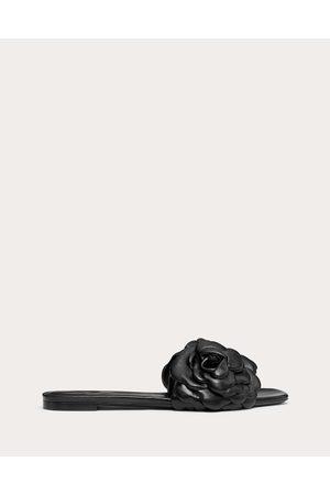 VALENTINO GARAVANI Atelier Shoe Kidskin Flat Slide Sandal With Petals Women Lambskin 100% 36