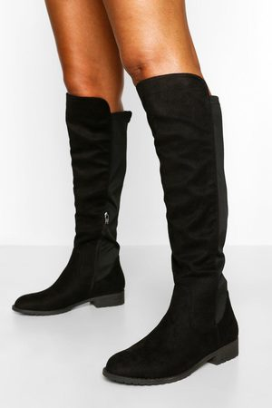 Boohoo Womens Knee High Stretch Riding Boot - - 5
