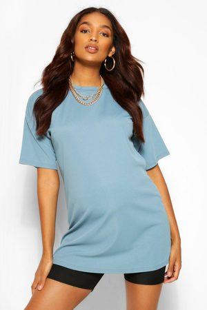 Boohoo Womens Maternity Rib Oversized T-Shirt - - 4