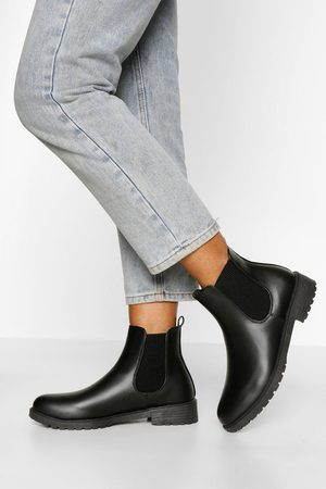Boohoo Women Chelsea Boots - Womens Pull On Pu Chelsea Boots - - 5