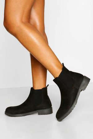 Boohoo Women Chelsea Boots - Womens Pull On Chelsea Boots - - 5