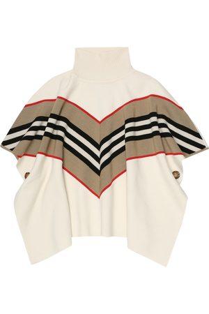 Burberry Icon Stripe wool-blend poncho