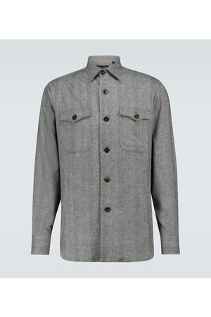 LARDINI Wool-blend overshirt