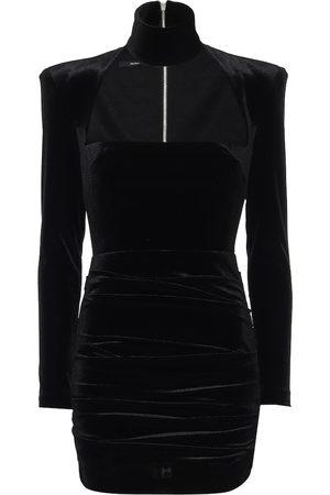 ALEX PERRY Ashton stretch-velvet dress