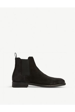 AllSaints Chelsea Boots - Harley distressed-toe suede Chelsea boots