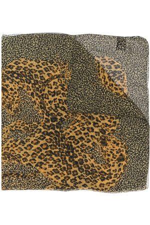 Saint Laurent Leopard-print scarf - Neutrals