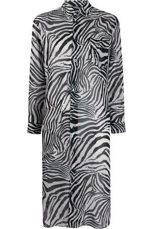 JUNYA WATANABE Patch-pocket longline zebra shirt