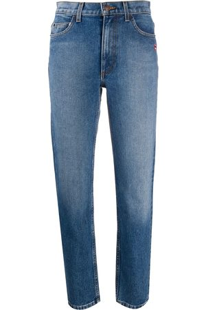 Marc Jacobs Women Straight - Lip patch straight-fit jeans