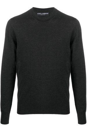 Dolce & Gabbana Logo-embroidered crew-neck jumper - Grey
