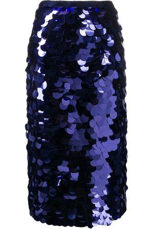 AMI Paris Sequin embroidered midi skirt