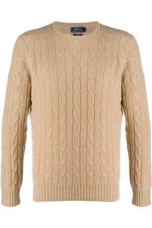 Polo Ralph Lauren Men Sweatshirts - Cable-knit cashmere jumper