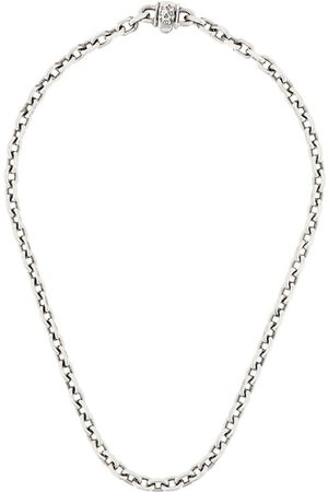 EMANUELE BICOCCHI Skull chain-link necklace - Metallic