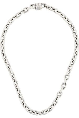 EMANUELE BICOCCHI Skull link chain necklace - Metallic