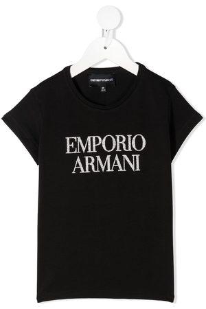Emporio Armani Girls Short Sleeve - Short sleeve logo print T-shirt