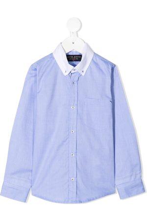 Lapin House Boys Shirts - Contrast-collar shirt