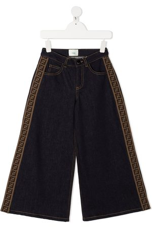 Fendi Side panelled wide-leg jeans