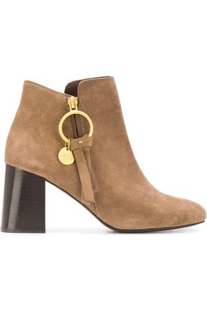 See by Chloé Louise logo charm ankle boots