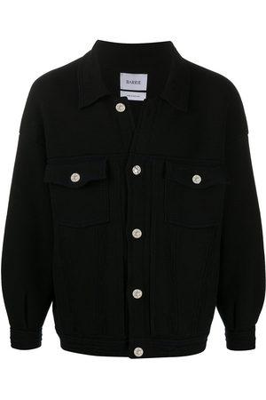 Barrie Oversized knitted denim jacket