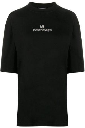 Balenciaga Embroidered logo oversized T-shirt
