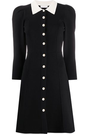 Sandro Contrast collar A-line dress