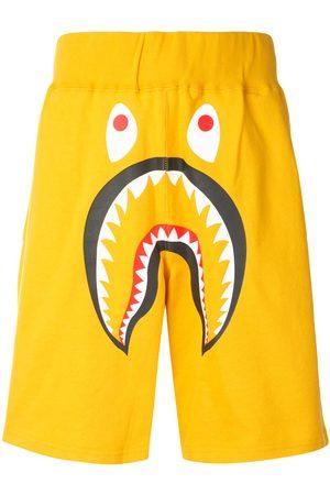 A Bathing Ape Men Sports Shorts - Shark wide track shorts