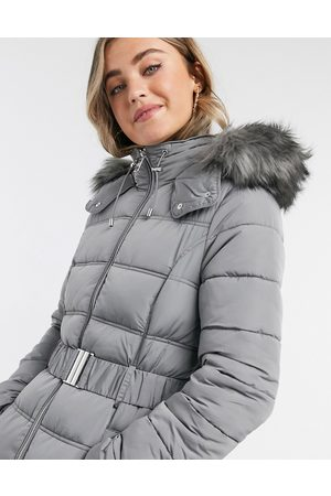 New Look Belted padded jacket in