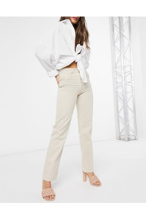 ASOS Mid rise '90's' straight leg jeans in buttermilk