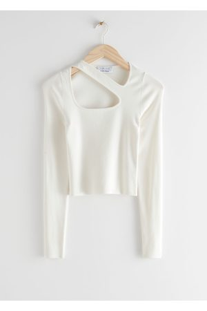 & OTHER STORIES Long Sleeve Cut Out Knit Top