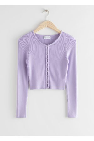 & OTHER STORIES Ribbed Cropped Cardigan Top