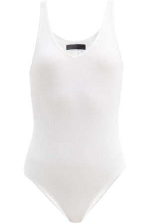 ATM Anthony Thomas Melillo V-neck Ribbed-jersey Bodysuit - Womens