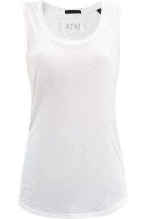 ATM Anthony Thomas Melillo Women Tank Tops - Scoop-neck Jersey Tank Top - Womens