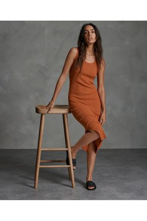 Superdry Sahara Knit Midi Split Dress