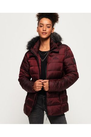 Superdry Women Puffer Jackets - Taiko Padded Faux Fur Jacket